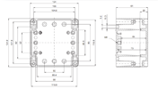 EURONORD AL 1212 Enclosure Schematic from The Enclosure Company