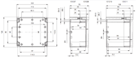 EURONORD PC / ABS 1212 Enclosure Schematic from The Enclosure Company