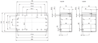 EURONORD PC / ABS 1220 Enclosure Schematic from The Enclosure Company