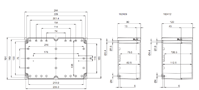 EURONORD PC / ABS 1624 Enclosure Schematic from The Enclosure Company