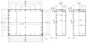 EURONORD PC / ABS 2330 Enclosure Schematic from The Enclosure Company