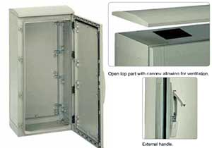 GRP Floor Standing Enclosures Enclosures with ventilated canopy, IP44 Enclosure from The Enclosure Company