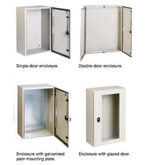 Mild Steel Wall Mounted Enclosures S3D Enclosure from The Enclosure Company