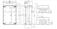 DG PC / ABS 2819 Enclosure Schematic from The Enclosure Company
