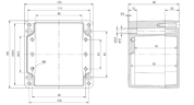 EURONORD P 1212 Enclosure Schematic from The Enclosure Company