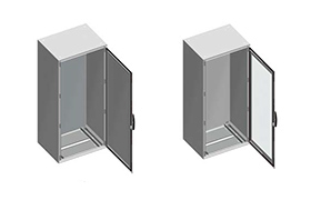 Floor standing mild steel electrical enclosures Spacial SM Enclosure from The Enclosure Company