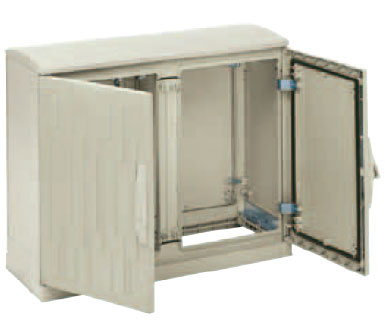 GRP Floor Standing Enclosures Enclosures with plinth-type open bottom part and ventilated canopy, IP 44 Enclosure from The Enclosure Company