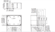 MNX PC / ABS 150XH Enclosure Schematic from The Enclosure Company