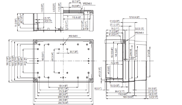 MNX PC / ABS 200XH Enclosure Schematic from The Enclosure Company