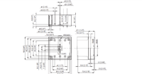 MNX PC / ABS 95H Enclosure Schematic from The Enclosure Company