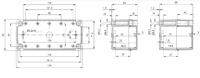 PICCOLO PC / ABS D Enclosure Schematic from The Enclosure Company