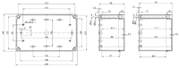 PICCOLO PC / ABS M Enclosure Schematic from The Enclosure Company