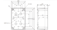 TEMPO ABS 1912 Enclosure Schematic from The Enclosure Company